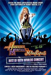 Hannah Montana y Miley Cyrus en concierto