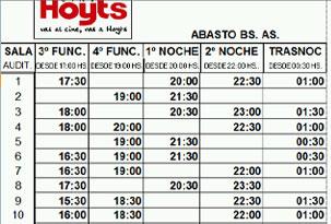 horarios cines: