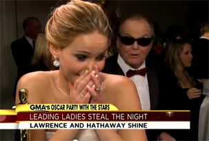 Jack Nicholson intentó levantarse a Jennifer Lawrence: el video