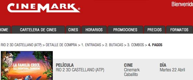 Cinemark cambi su sistema online y ahora permite reservar for Cine capitol precio entrada